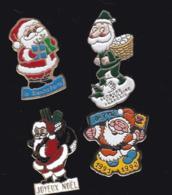 63667-lot De 4 Pin's.Noel.Fetes. - Navidad