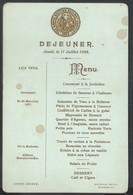 Menu 1895 British Railway Au Waterloo Hôtel Edimbourg - Menus