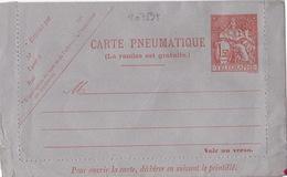 20789# ENTIER POSTAL CARTE LETTRE CHAPLAIN CARTE PNEUMATIQUE TELEGRAMME 1.50 Franc ROUGE ORANGE V10 NEUF - Entiers Postaux