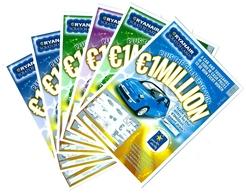 Lotto Di N 6  Biglietti GRATTA  E  VINCI - PLUS THE CHANCE TO WIN - Ryanair  208 - Billets De Loterie