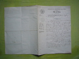 Révolution An 9 Acte De Naissance Paris Alexandre Louis Thomas Fils De Jean Guillaume Lurde Et Madeleine Berry - Manuscripten