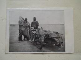 """Motocyclette   """" Moto Traversée Du Sahara Hoggar  En SIDE CAR  M. Desombre & Soubrier """" - Coupure De Presse De 1933 - Motos"""