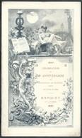 Menu 1897 50e Anniv De L'Association Des Ingénieurs Sortis De L'Ecole De Liège Illustré Par Renard. Superbe 16X27cm - Menus