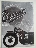 """Moto  """"  TERROT Dijon  """" - Coupure De Presse De 1931 - Motos"""
