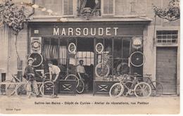39 Salins Les Bains Dépôt De Cycles Atelier De Réparations, Rue Pasteur. Rare Pas Vue Sur Delcampe - Frankreich