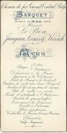 Menu 1894 Chemin De Fer Du Grand Central Belge à Mrs Le Bon, Jeanjean Et Kirsch - Menus