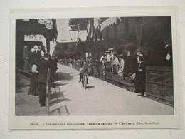 """Motocyclette   """" Arrivée D'une Course MOTO Entre DOURDAN Et SAINT ARNOULT """" - Coupure De Presse De 1904 - Motos"""