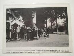 """Motocyclette   """" Virage  D'une Course MOTO Entre DOURDAN Et SAINT ARNOULT """" - Coupure De Presse De 1904 - Motos"""