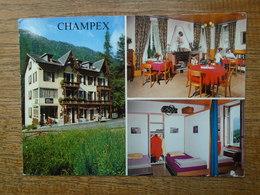 """Suisse , Champex-lac , Chalet Pension """" En Plein Air """" Multi-vues """""""""""" Beaux Timbre Et Cachet """""""" - VS Valais"""