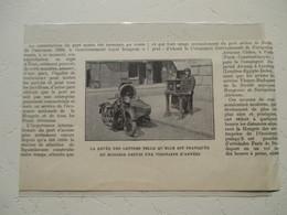 BUDAPEST -  La Levée De La Poste Hongroise En Moto SIDE CAR - Coupure De Presse De 1931 - Motos
