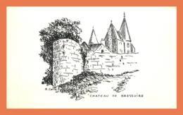 A513 / 521 Château De BRESSUIRE Signé R. COLLE Sur Papier 9 / 14 Cm - Documentos Antiguos