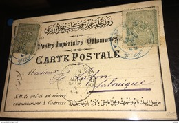 See Photos. 1893 TURKEY Pera CANCELLED STATIONARY TO Greece - 1858-1921 Empire Ottoman