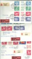 Suisse. 3 X Lettres Express - Recommandées 1964 - Inverted (tête-bêche)