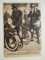 France - Les Motards De La Police Départementale  - Coupure De Presse De 1936 - Motos