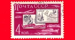 RUSSIA - Usato - 1961 - Settimana Internazionale Della Scrittura Delle Lettere, 1961- 4 K - 1923-1991 USSR