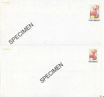 Postimpact ,2 Enveloppes SPECIMEN De Formats Différents - PAP: Sonstige (1995-...)