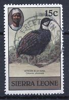 Sierra Leone 1980 Y&T N°432 - Michel N°596 (o) - 15c Caille Bleue - Sierra Leone (1961-...)