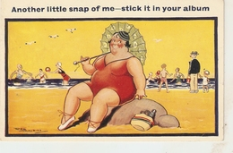 """""""Another Little Snap Of Me..."""" Humorous Vintage English PC. Artist Signed - Humor"""