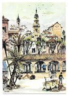 06 - MENTON - PLACE AUX HERBES - Aquarelle Originale De Robert LEPINE - Ed. Yvon N° 15 06 1059 - Menton
