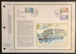 France - Document Philatélique - FDC - Premier Jour - YT N° 65 à 67 - Timbre De Service - Conseil De L'Europe - 1981 - 1980-1989