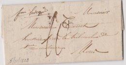 Lettre FONTAINE L'EVEQUE - Bureau De Distribution Manuscrit AVANT Cachet Type 18 - à MONS 5/11/1829  - SUPER Et RRR - 1830-1849 (Unabhängiges Belgien)