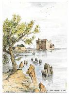 06 - CANNES - LE FORT DE L'ILE ST HONORAT - Aquarelle Originale De Robert LEPINE - Ed. Yvon N° 15 06 1046* - Cannes