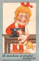 Carte Publicitaire De Luxeuil-les-Bains-70-Haute-Saône-SINGER MACHINE A COUDRE Moderne Dessin Illustrateur-Fille-Poupée - Publicité