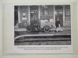 Venarey-les-Laumes - Agent Fret Postal Moto Triporteur En Gare - LES LAUMES ALESIA (21)  - Coupure De Presse De 1935 - Motos