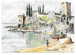 06 - LE CHATEAU DE LA NAPOULE - Aquarelle Originale De Robert LEPINE - Ed. Yvon N° 15 06 1048* - Andere Gemeenten