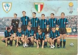 INTER - SQUADRA CALCIO SERIE A 1965/66 - FOOTBALL TEAM VINTAGE PHOTO POSTCARD - Fútbol