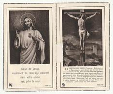 Décès Cyrille Camille BOSSAERT Veuf Pulchérie Hélène Crespel Armentières 1951 Organiste Paroisse Ploegsteert - Devotion Images