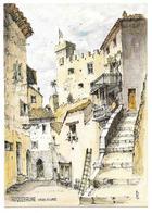 06 - ROQUEBRUNE VIEUX VILLAGE LA RUE DE LA FONTAINE - Aquarelle Originale De Robert LEPINE - Ed. Yvon N° 15 06 1051* - Roquebrune-Cap-Martin