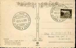 52612 Italia,special Postmark 18.6.1942 Firenze,Kulturveranstaltungen Florenz Weimar - Allemagne
