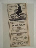 Bicyclette à Ruban à Usiner - Ets Barrot Asnières   - Coupure De Presse De 1920 - Tools