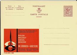 Publibel Neuve N° 2089  ( Kolen - Mazout - Diesel - Benzine - DE CROOCK   Antwerpen) - Enteros Postales