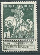 Belgique -      Yvert N°  88 * *   Angle Arondi  -  Aab 26510 - 1910-1911 Caritas