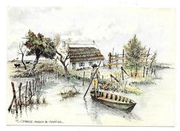 13 - CAMARGUE - Maison De Gardian - Aquarelle Originale De Robert LEPINE - Ed. Yvon N° 15 00 7227 - Andere Gemeenten