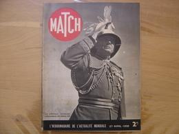 1939 MATCH 43 Revue Renommee Paris Match GENERAL IRONSIDE GOUVERNEUR GIBRALTAR - Libros, Revistas, Cómics