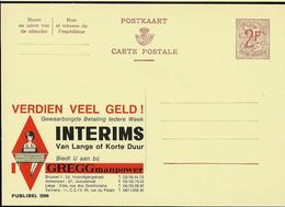 Publibel Neuve N° 2096 ( GREGG Manpower  Travail Intérims) - Enteros Postales