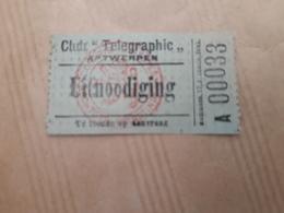 Ticket Téléphérique Antwerpen - Titres De Transport