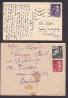 Ozydow üb. Lemberg Generalgouvernement 1942, 12 Gr. Karte Krakau R-Brief (R-Zettel Fehlt), 21.10.42 - Besetzungen 1938-45