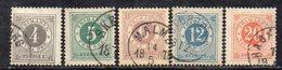 354 490 - SVEZIA 1872, Cinque Valori Usati Dent 13  (M2200) - Usati