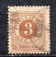 397 490 - SVEZIA 1886, Unificato N. 30  Usato  (M2200) Corno Azzurro - Usati