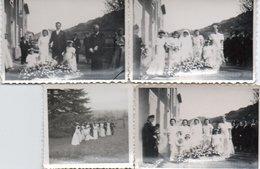 Gr03V  04 Riez Lot De 4 Photos Mariage La Barre Années 30/40 - Autres Communes