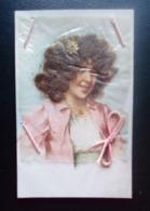 Carte Postale Ancienne Fantaisie - Cheveux, Cordon - Autres