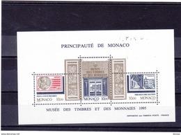 MONACO 1995 MUSEE DU TIMBRE Yvert BF 69 NEUF** MNH Cote : 15 Euros - Blocks & Kleinbögen