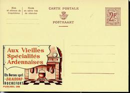Publibel Neuve N° 2099  ( Aux Vieilles Spécialités Ardennaises  : Ets Borsus - Rochefort) - Stamped Stationery