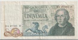 ITALY P. 102b 5000 L 1973 VF - 5000 Lire