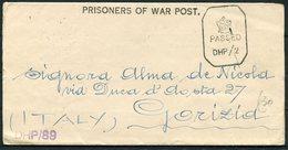 1944 GB Prisoner Of War Post, POW Camp 26 India - Italy. Censor - 1902-1951 (Re)