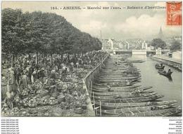 80 AMIENS. Bateaux D'hortillons Le Marché Sur L'eau - Amiens